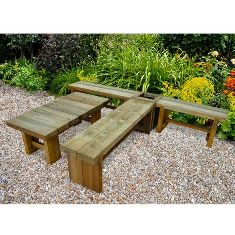 Superb 1 2M Double Sleeper Solid Garden Bench Outdoor Seating Squirreltailoven Fun Painted Chair Ideas Images Squirreltailovenorg