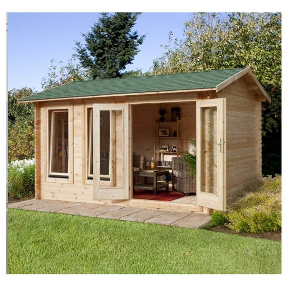 Chiltern 4.0m X 3.0m Log Cabin Extra Living Space, Office