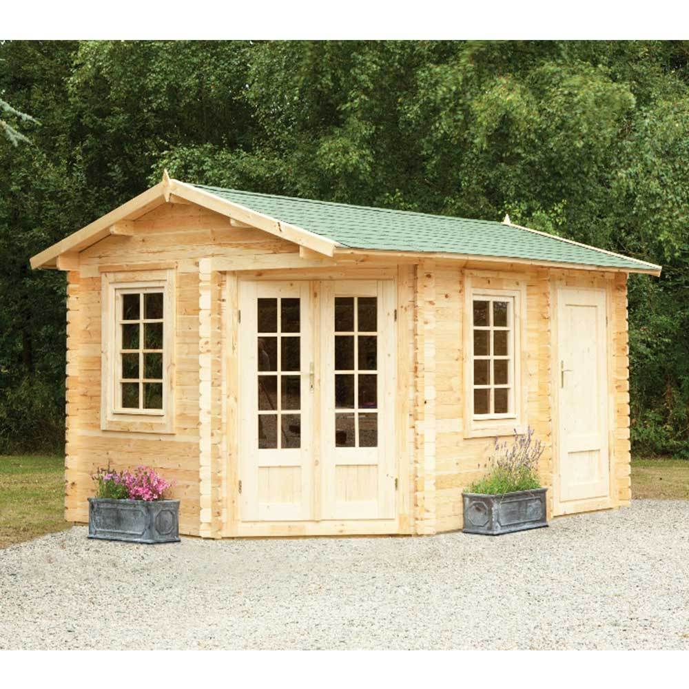 Wenlock Log Cabin 3m X 3m 28mm Summerhouse, Hobby Room