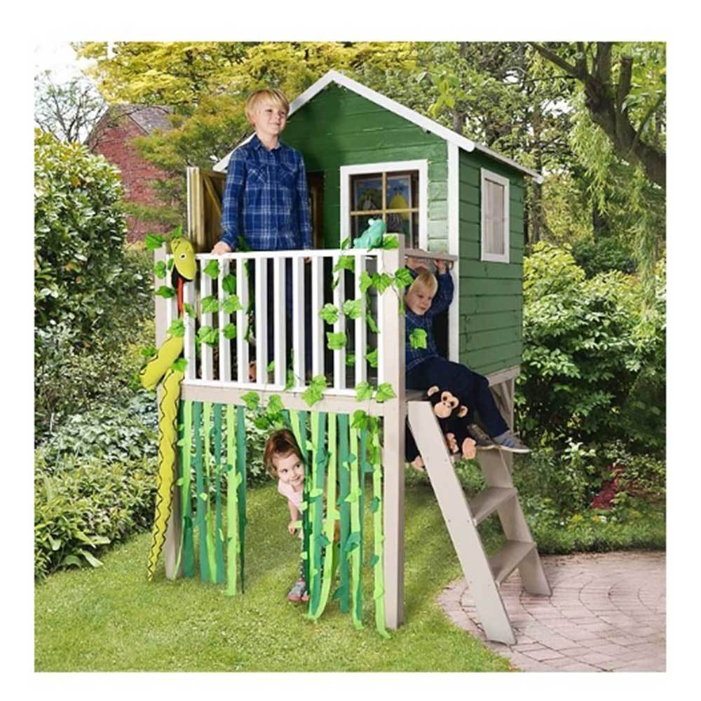 Sage Tower Playhouse Childrens Garden Outdoor Playroom Wendy House