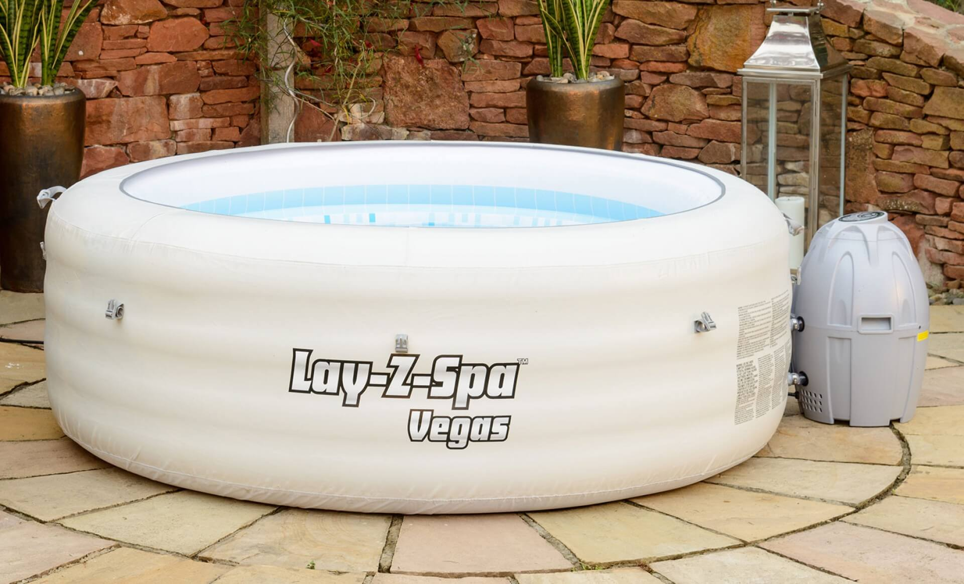 Bestway Lay Z Spa Vegas Airjet Premium Inflatable Hot Tub Pure