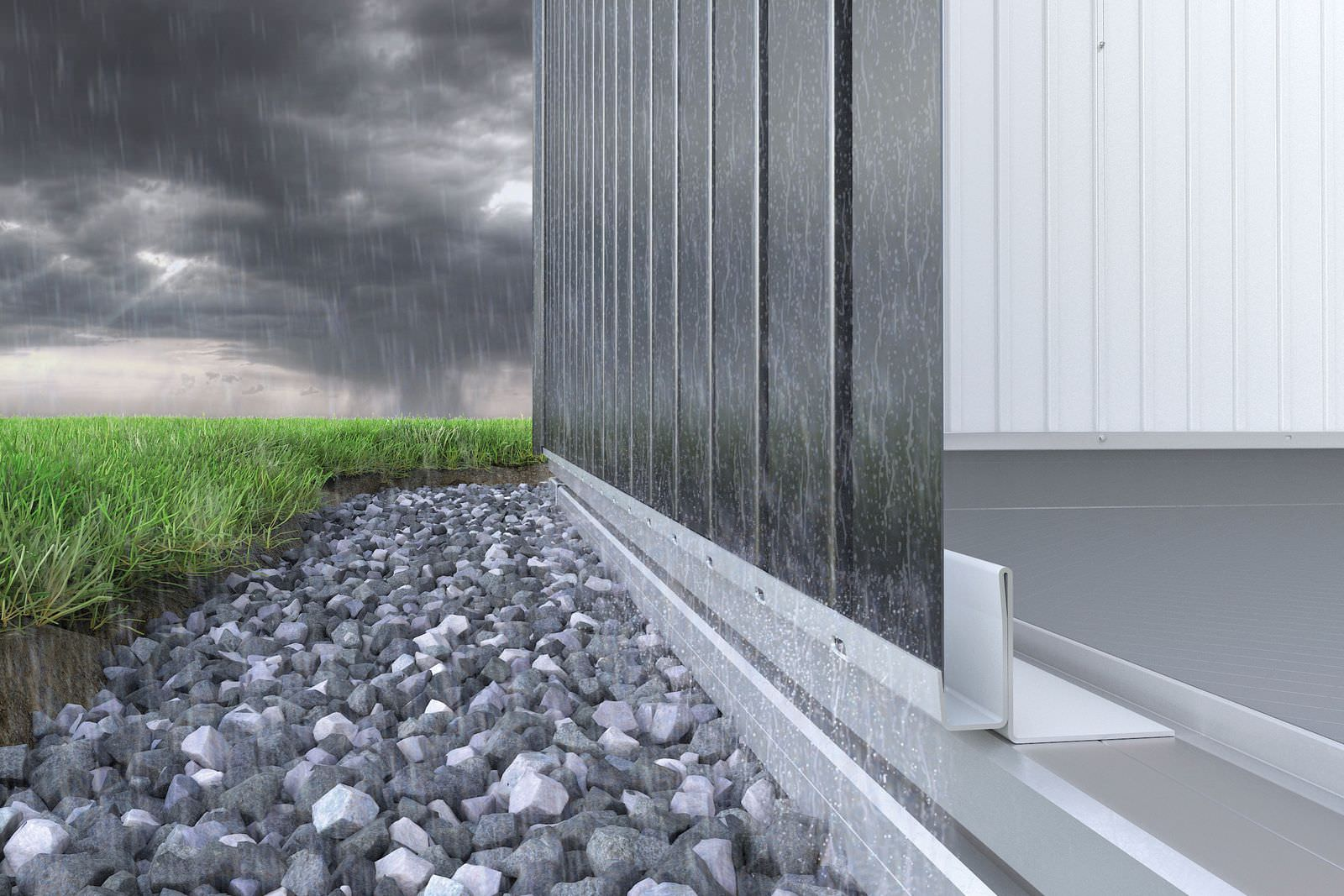 Biohort foundation integrated water barrier