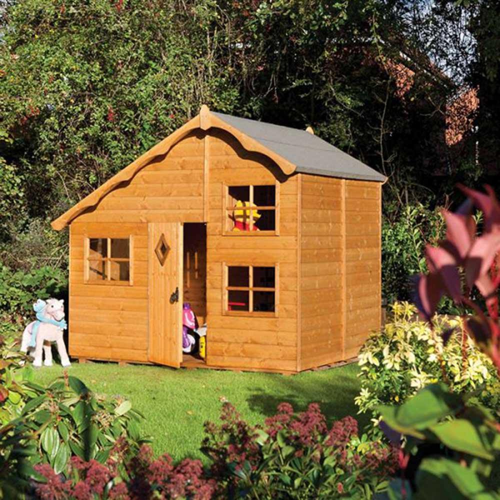 Playaway Swiss Cottage Childrens Garden Play House Pure Garden