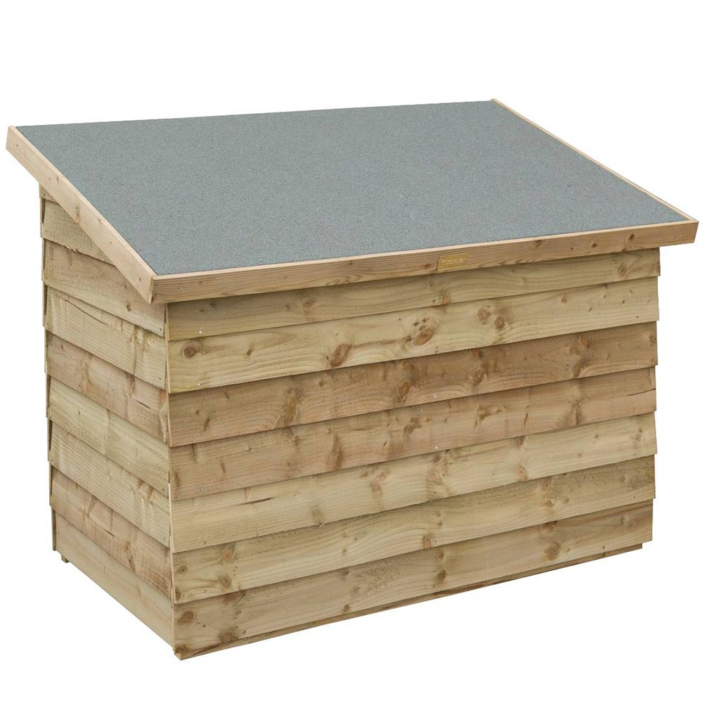Overlap Lifting Lid With Stay Garden Patio Storage Chest