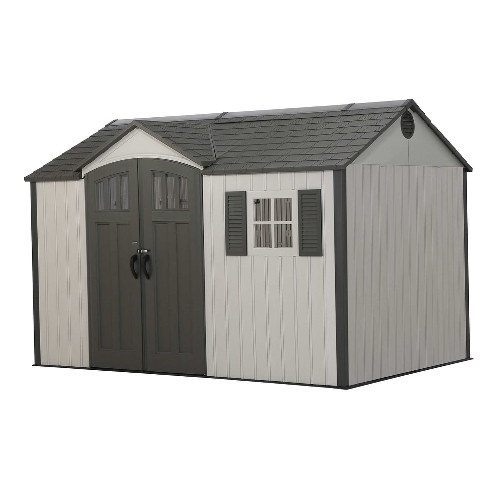 Lifetime 12.5 X 8 Single Entrance Plastic Shed Apex Roof